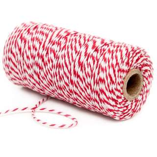Cotton Bakers Twine 100 Yards – Red