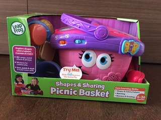 [Brand New in Box] Leap Frog Shapes and Sharing Picnic Basket