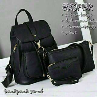 Backpack ransel wanita 3in1