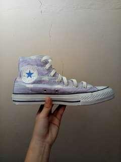 Authentic Converse Chuck Taylor Hi Lavendula/Blue Sneakers