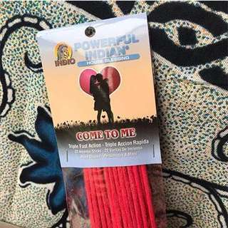 In stock Come to me incense stick use in love spell.