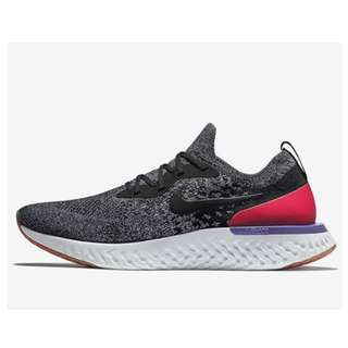"英國代購 * Nike WMNS Epic React Flyknit "" Black/White/Hyper Crimson"""