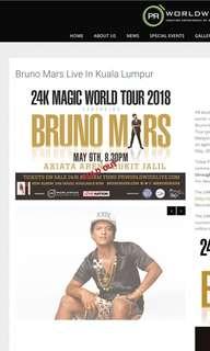 Cat 3 Bruno Mars in Malaysia