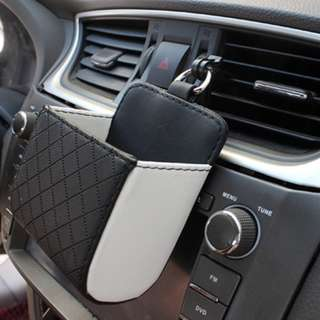 Leather Car Holder Pouch