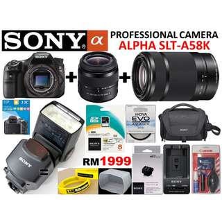 SONY ALPHA A58 DSLR FULL SET