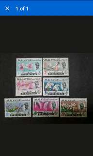 Malaysia 1965 Perak Orchids Definitive Complete Set - 7v Used & MH Stamps