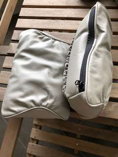 Brand new grey colour luxury Car leather Head Rest