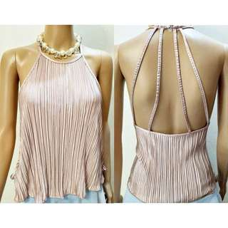 Isabella Strappy Back Pleated Top
