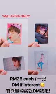 WANNA ONE OFFICIALS PHOTOCARDS