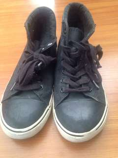 PS NYC Boys and girls black shoes