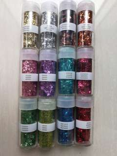Vintage Leaf Glitter - 12 colours (Martha Stewart)
