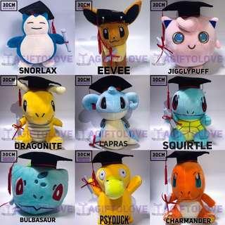 XL *30CM* Pokémon Graduation Plush Gift Set