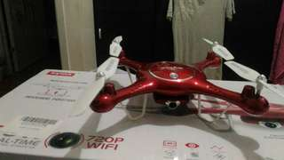 SYMA X5UW 720p HD camera real-time FPV drone (barely used with spare 3 batteries)