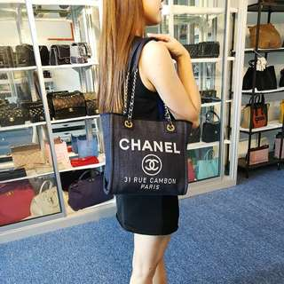 Authentic Chanel Small Deauville Bag