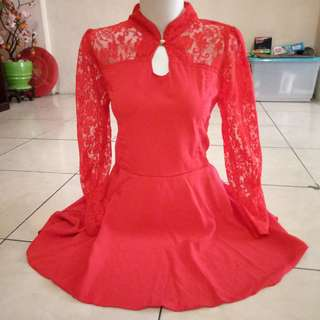 Dress red lace NEW