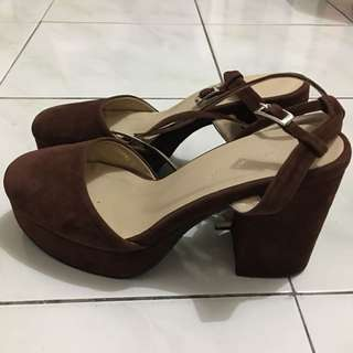 Boardwalk suede heels
