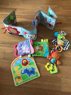 Preloved soft books, puzzles and soft toys