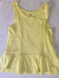 H&M yellow polka dress for kids 1-2 yrs old (EUR 98 on tag)