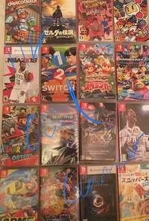 各種不同Switch遊戲一手和二手歡迎換game及查詢