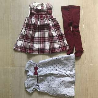 Primark and Gymboree Maroon Dress