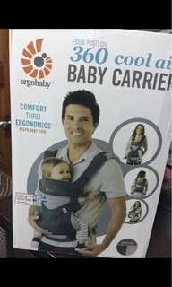 Ergobaby All Position 360 Cool Air Mesh Baby Carrier - Carbon Grey