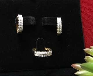 Diamonds rings and earrings