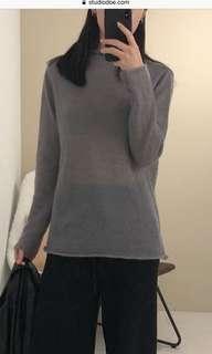 Studiodoe 海馬毛柔軟針織衫-深灰版