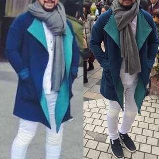 unisex green blazer winter