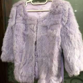 紫色毛毛褸(兔🐰毛)