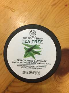 The body shop tae tree skin clearing clay mask