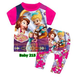 Sofia the first baby pyjamas set(stock coming in late apr)