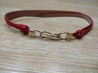 Adjustable red belt