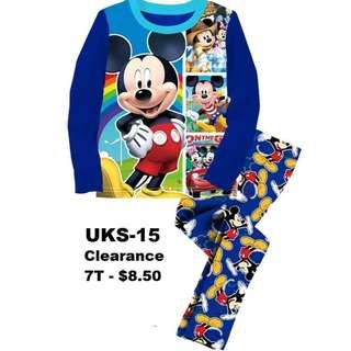 Clearance---Micky Mouse Long Sleeve Pyjamas