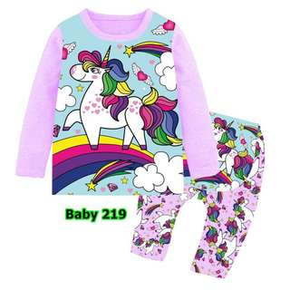Unicorn baby pyjamas set