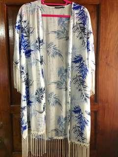 Fringe Floral Cover-up