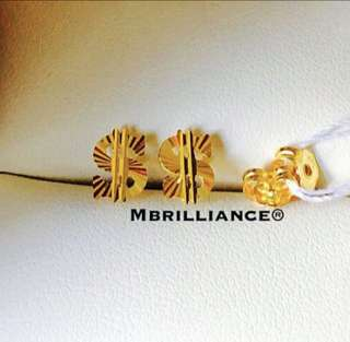 916 gold Dollar earstuds by Mbrilliance