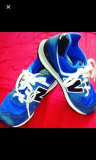 New Balance blue sneakers kicks rubber shoes for kids