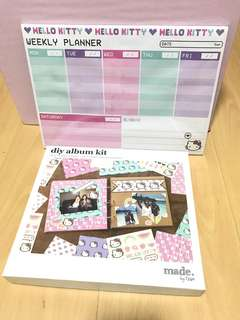 Hello Kitty DIY Album Kit & Weekly Planner