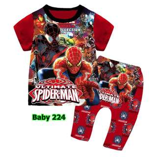 Spiderman baby pyjamas set