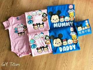 亲子装(family tsum tsum t Shirt)
