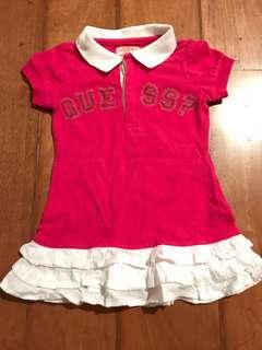 Guess 2T Hot Pink Polo Ruffle Dress