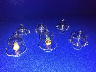 Handmade Miniature Glassware for cakes / cupcakes / kueh / tarts (Real Glass)
