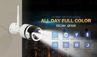 ESCAM QF508 Security Camera – 1/4-Inch CMOS, 1080P Full-HD, 10m Night Vision, Motion Detection, Dual-Audio, APP Support (CVAIA-I621)