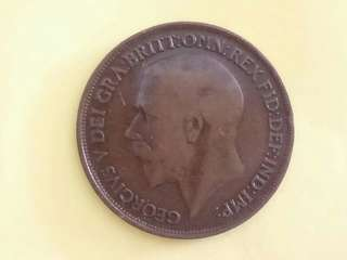 UK King George V 1919 One Penny