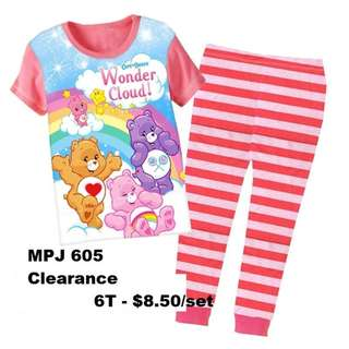 Clearance---Care Bears Short Sleeve Pyjamas