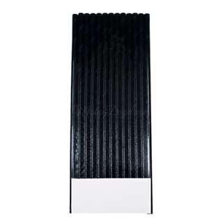 25pc Metallic Foil Straws – Black