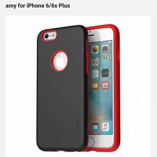 Araree 韓國貨 iPhone 6/6s Amy Black+Red