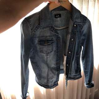 S 10 denim jacket