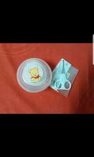 Baby Powder Puff & Scissors