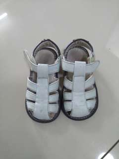 Boy light blue leather sandals